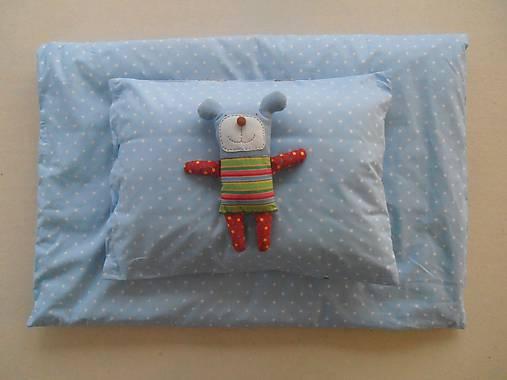 Návliečky do postieľky pre deti 100% bavlna Hviezdička bledomodrá
