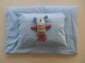 Textil - Návliečky do postieľky pre deti 100% bavlna Hviezdička bledomodrá - 7779855_