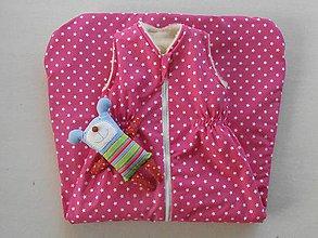 Textil - Ovčie rúno Detský spací vak na zimu 100% MERINO TOP super wash Hviezdička Ružová - 7783495_