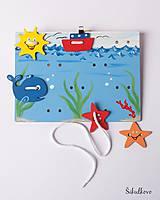 Detské doplnky - Prišívacia hračka - Tabuľka morský svet - 7778939_