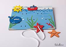 Detské doplnky - Prišívacia hračka - Tabuľka morský svet - 7778956_