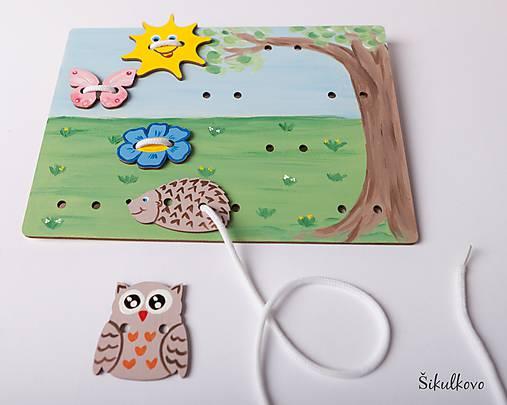 Prišívacia hračka - Tabuľka na lúke