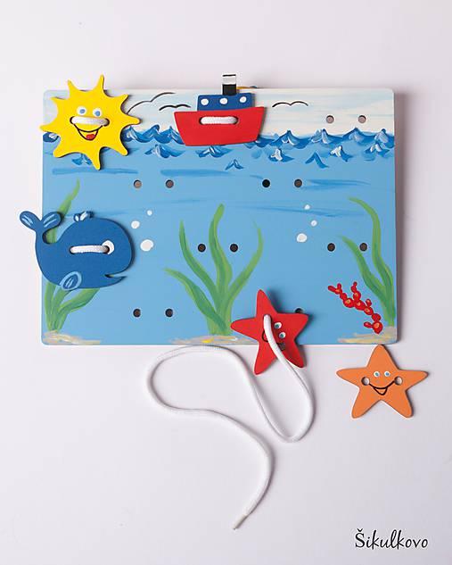 Prišívacia hračka - Tabuľka morský svet