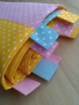 Úžitkový textil - Zástena pestrá*žltá* - 7779313_