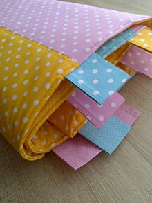 Úžitkový textil - Zástena pestrá*žltá* - 7779315_