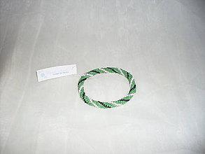 Náramky - Háčkovaný náramok zelený - 7782780_