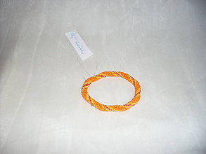 Náramky - Háčkovaný náramok oranžový - 7782812_