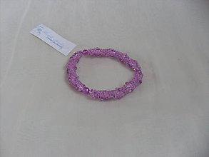 Náramky - Háčkovaný náramok ružovo-fialový - 7782908_