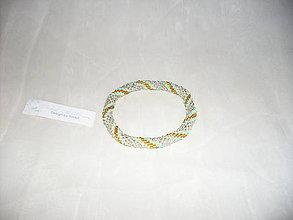 Náramky - Háčkovaný náramok strieborno-farebný - 7782971_