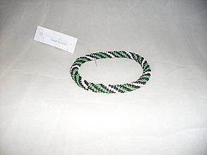 Náramky - Háčkovaný náramok farebný maxi - 7783027_