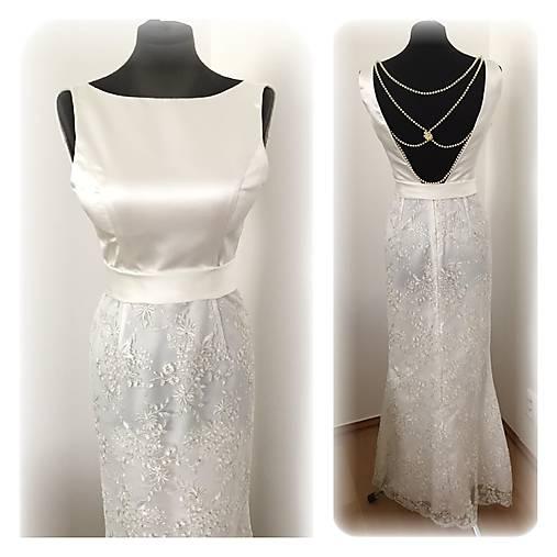 Svadobné šaty s perličkovým detailom   MO.IE.TI - SAShE.sk ... 445cb503a93