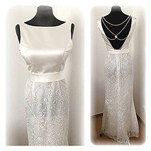 Šaty - Svadobné šaty s perličkovým detailom - 7782313_
