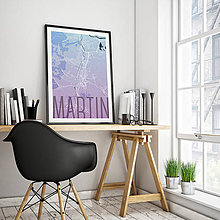 Grafika - MARTIN, elegantný, modro-fialový - 7780879_