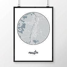 Grafika - MARTIN, okrúhly, svetlomodrý - 7780894_