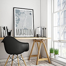 Grafika - MARTIN, elegantný, svetlomodrý - 7780901_