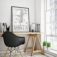 Grafika - MARTIN, elegantný, biely - 7780948_