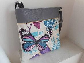 Kabelky - kabelka motýľ - 7780819_