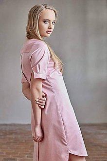 Šaty - Košilové šaty jemně červené - 7778887_