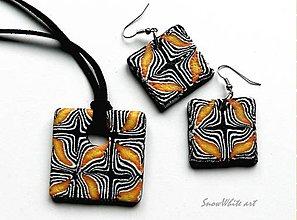 Sady šperkov - Set Oranžové blues - 7780358_