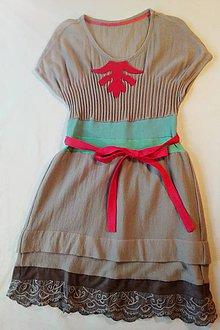 Detské oblečenie - Dievčenské šaty - 7783467_