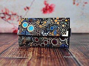 Peňaženky - Oranžové bublinky - 7780200_