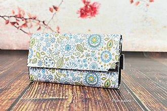 Peňaženky - Bílé květy - 7780470_