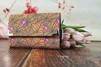 Peňaženky - Pavoučci oranžoví - 7781636_