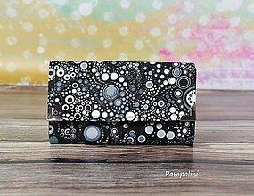 Peňaženky - Šedé bublinky - 7781839_