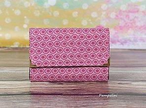 Peňaženky - Bublinky starorůžové - 7781900_