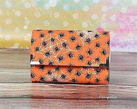 Peňaženky - Pavoučci na oranžové - 7781910_