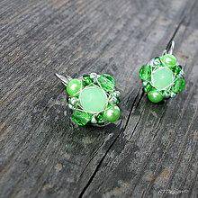 Náušnice - Náušničky MINI Green...CH.OCEL - 7780055_