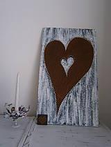 Obrazy - Srdce moje najväčšie a najmenšie a niečo medzi...Srdiečko na domčeku - 7778873_