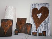 Obrazy - Srdce moje najväčšie a najmenšie a niečo medzi...Srdiečko na domčeku - 7778875_