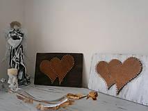 Obrazy - Srdce moje najväčšie a najmenšie a niečo medzi...Srdiečko na domčeku - 7778884_