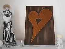 Obrazy - Srdce moje najväčšie a najmenšie a niečo medzi...Srdiečko na domčeku - 7778886_