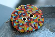 Iné doplnky - gombík mozaika XL - 7780903_
