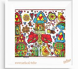 Kresby - MAKOVÁ ULICA - maľovaný obrázok - 7778715_