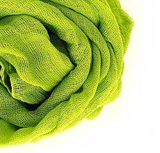 Šály - žlto-zelený bavlnený šál skladom:-) - 7780126_