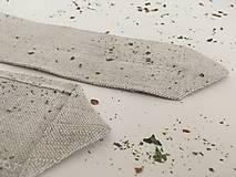 Úžitkový textil - Štóla z ručne tkaného ľanu 140x40cm - 7781758_
