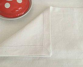 Úžitkový textil - Súprava prestierania z ručne tkaného ľanu 4 kusy - 7781879_