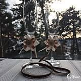 Drobnosti - Dekorácia na svadobné poháre - 7778708_