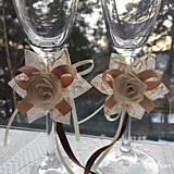 Drobnosti - Dekorácia na svadobné poháre - 7778709_