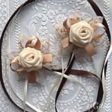 Drobnosti - Dekorácia na svadobné poháre - 7778710_