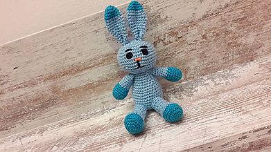 Dekorácie - zajko modro/modrý - 7782954_