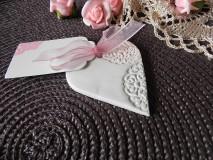 Darčeky pre svadobčanov - Svadobné magnetky s menovkami - púdrový dotyk mäty:-) - 7785311_