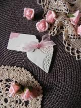 Darčeky pre svadobčanov - Svadobné magnetky s menovkami - púdrový dotyk mäty:-) - 7785320_