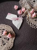 Darčeky pre svadobčanov - Svadobné magnetky s menovkami - púdrový dotyk mäty:-) - 7785328_