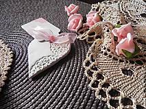 Darčeky pre svadobčanov - Svadobné magnetky s menovkami - púdrový dotyk mäty:-) - 7785331_