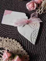 Darčeky pre svadobčanov - Svadobné magnetky s menovkami - púdrový dotyk mäty:-) - 7785332_