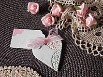Darčeky pre svadobčanov - Svadobné magnetky s menovkami - púdrový dotyk mäty:-) - 7785365_